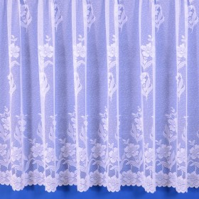 Carla Heavyweight Net Curtain in White - Sold By The Metre