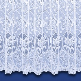 Zoe Heavyweight Net Curtain in White - Sold By The Metre
