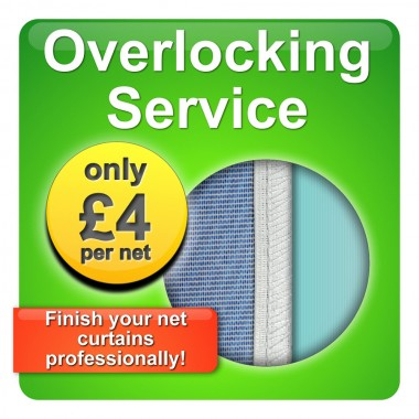 Overlocking Service for Net Curtains