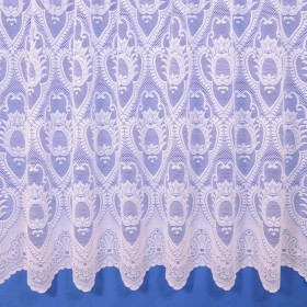 Geneva Heavyweight Net Curtain in White - Sold By The Metre