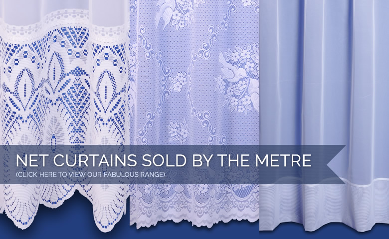 Net curtains sold by the metre