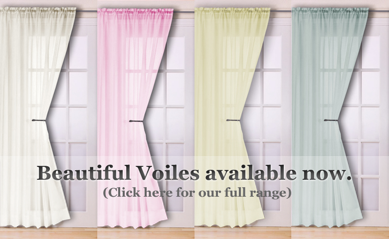 Ready made voile panel net curtains