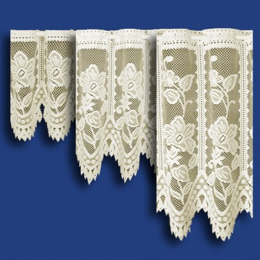 Andrea Cafe Net Curtain in Cream - Sold By The Metre