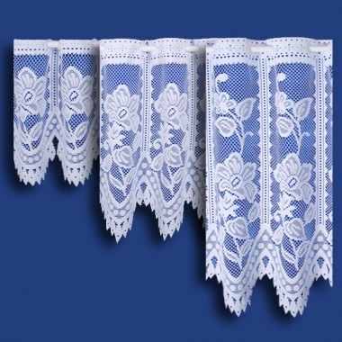 Andrea Cafe Net Curtain in White - Sold By The Metre