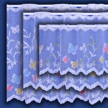 Meadow Butterfly Cafe Net Curtain - Sold By The Metre