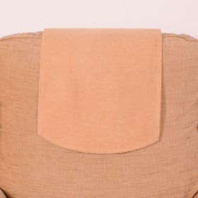 Soft Plain Chenille Chairback (Single) For Chairs and Settees. Finished In Gold.