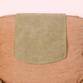 Soft Plain Chenille Chairback (Single) For Chairs and Settees. Finished In Green.