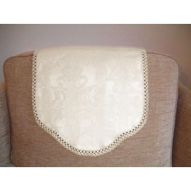 Trinity Jacquard Antimacasser Chair Backs available in Cream