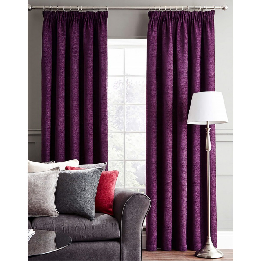 Plum Chenille Curtains Home Design amp Decor Ideas