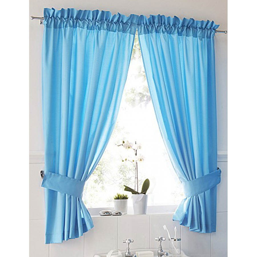 curtains pair available in aqua description stylish bathroom curtains ...