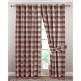 Kindle Jacquard Ring Top Curtains (Pair) - Finished in Natural