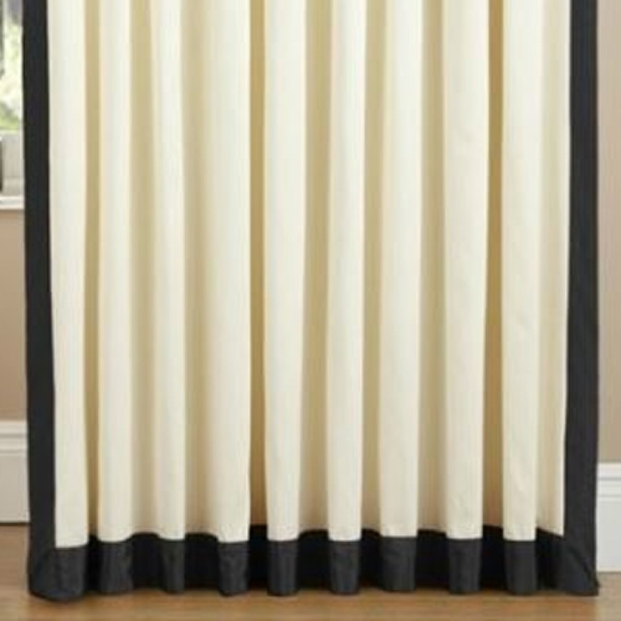 Claremont Lined Tab Top Curtains Pair Available In Black
