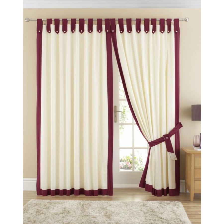 home claremont lined tab top curtains pair available in wine