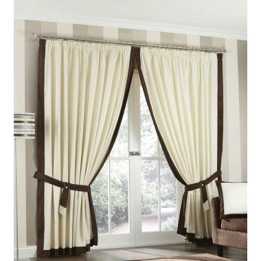 Claremont Lined Tape Top Curtains (Pair) Available in Chocolate
