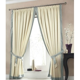 Claremont Lined Tape Top Curtains (Pair) Available in Light Blue