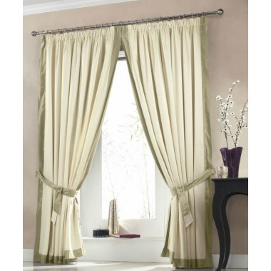 Claremont Lined Tape Top Curtains (Pair) Available in Soft Green