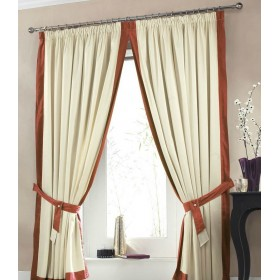 Claremont Lined Tape Top Curtains (Pair) Available in Terracotta