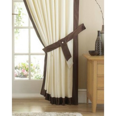 Claremont Satin Trim Tiebacks (Pair) Available in Chocolate