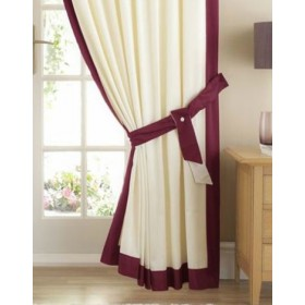 Claremont Satin Trim Tiebacks (Pair) Available in Wine