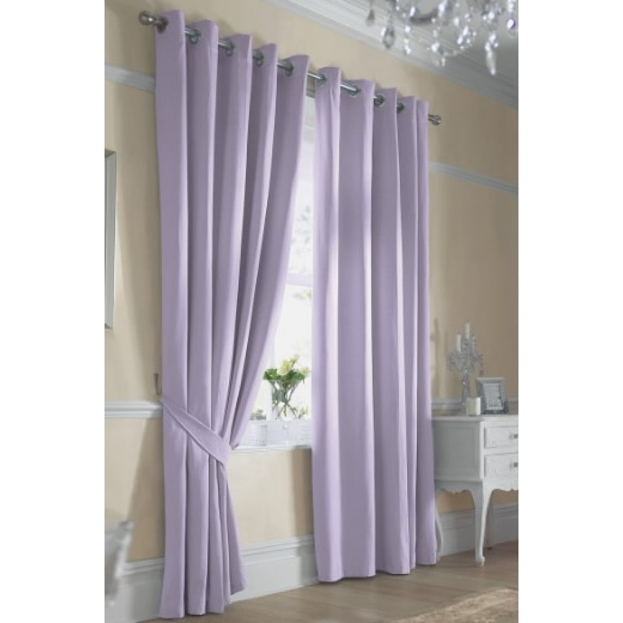 Ella lined ring top curtains pair finished in lilac - Pictures of curtains ...