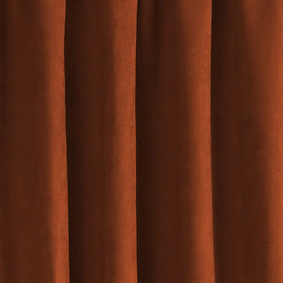 faux suede lined tape top curtains pair finished in burnt orange