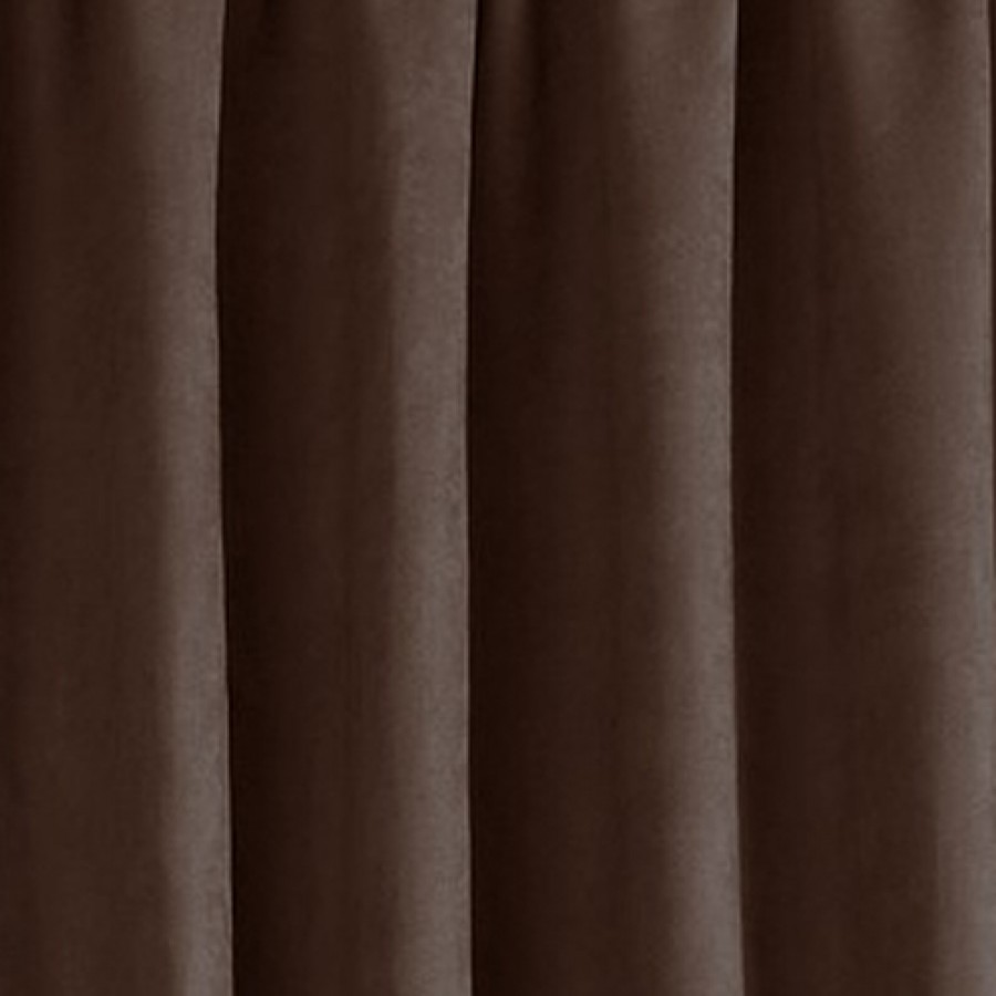 Faux Suede Lined Tape Top Curtains Pair Finished In