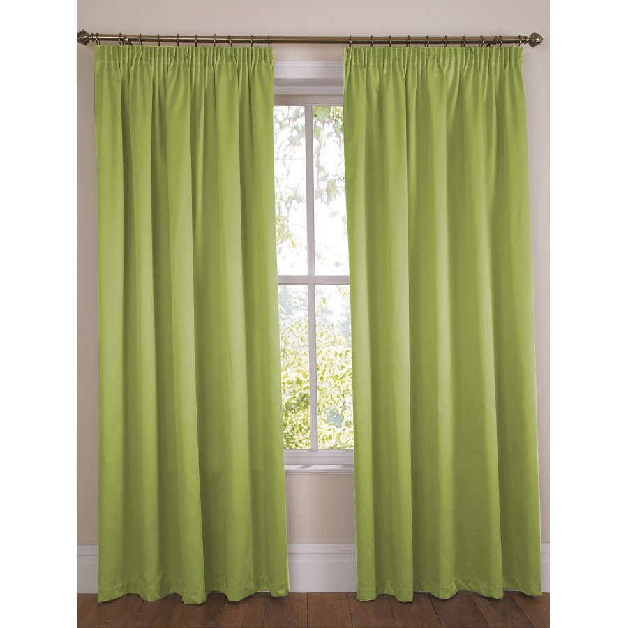 satin lined tab top pencil pleat tape top curtains in various colours