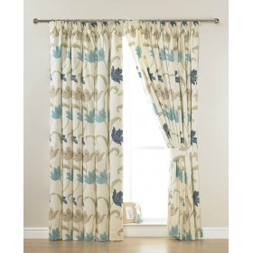 Kinsale Lined Tape Top Curtains (Pair) Available in Blue