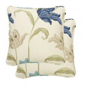 Kinsale Cushion Cases 18&quot x 18&quot (Pair) Available in Blue