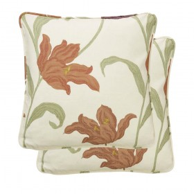 Kinsale Cushion Cases 18&quot x 18&quot (Pair) Available in Terracotta