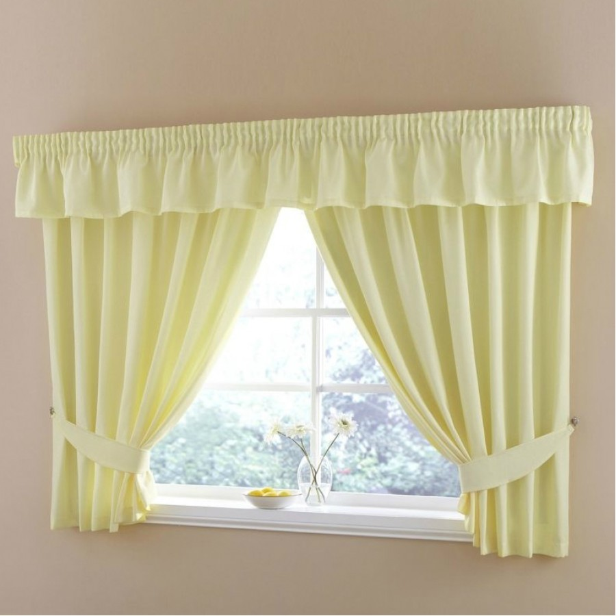 Half Panama Tape Top/Pencil Pleat Kitchen Curtains (Pair) Available