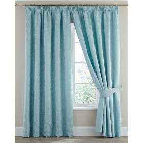 Silhouette Luxury Heavyweight Thermal Insulated Lined Tape Top Curtains (Pair) - Duck Egg