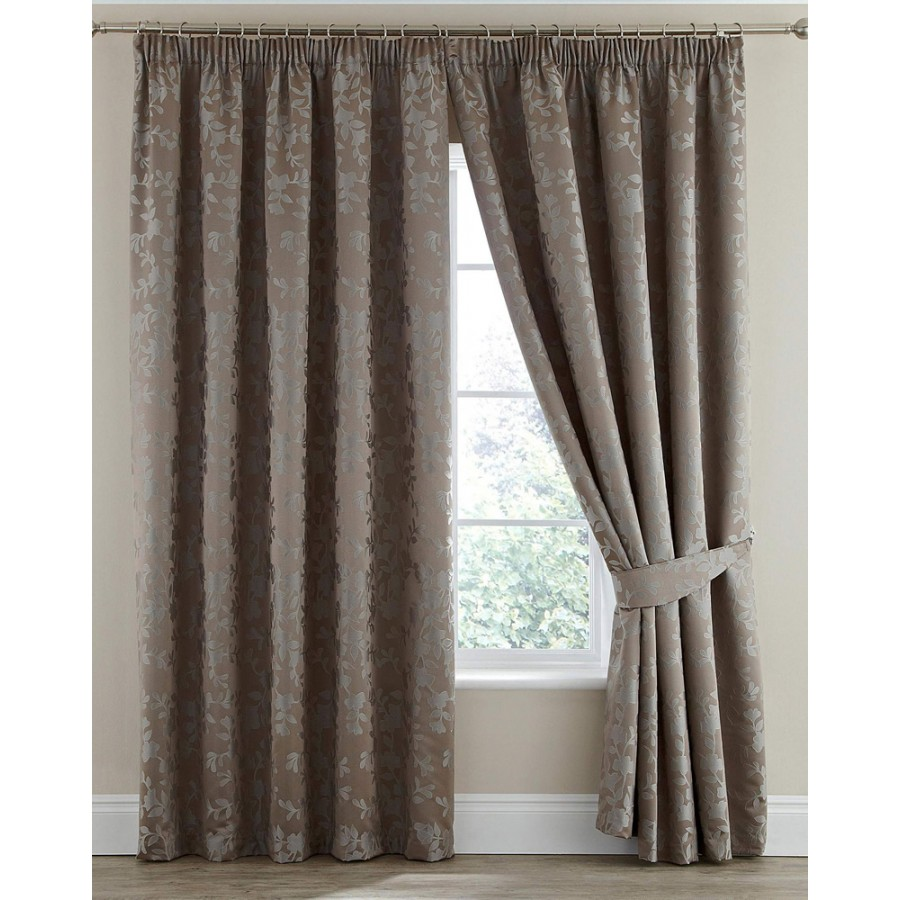 Thermal curtains grey - Silhouette Luxury Heavyweight Thermal Insulated Lined Tape Top Curtains Pair Grey