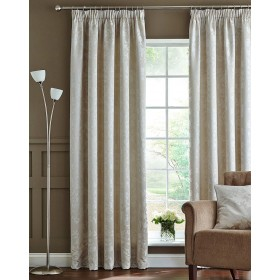Silhouette Luxury Heavyweight Thermal Insulated Lined Tape Top Curtains (Pair) - Natural