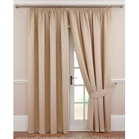 Swanley Lined Tape Top Curtains (Pair) - Finished in Natural