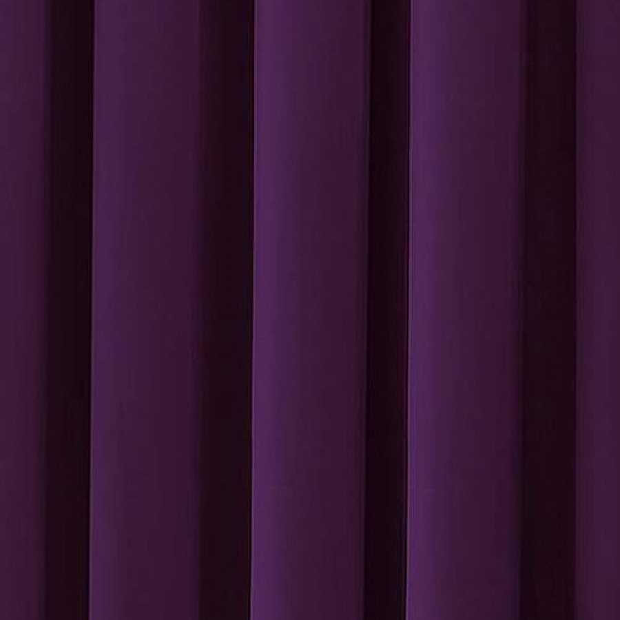 Thermal velour velvet tape top curtains finished in plum