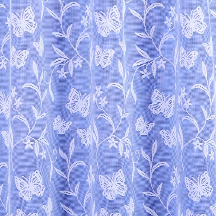 Meadow butterfly jardinere net curtain in white