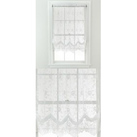 Balloon Lace Panel Finished in <br> - White