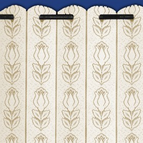 Tulip Lace Net Curtain Louvre Blind Finished in Cream