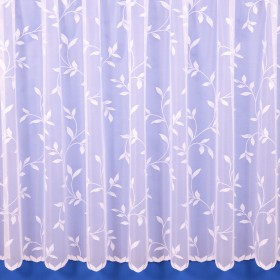 Amy Floral Net Curtain in White - Sold By The Metre