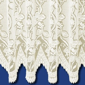 Andrea Heavyweight Net Curtain in Cream - Sold By The Metre