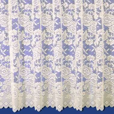 Balmoral Net Curtain in Cream - Sold By The Metre