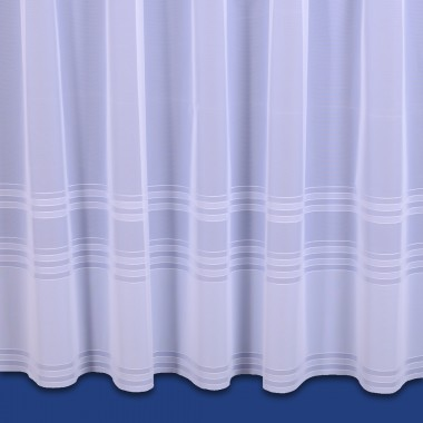 Brooklands Net Curtain In White  Sold By The Metre