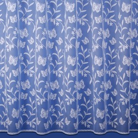 Butterfly Net Curtain in White - Sold By The Metre