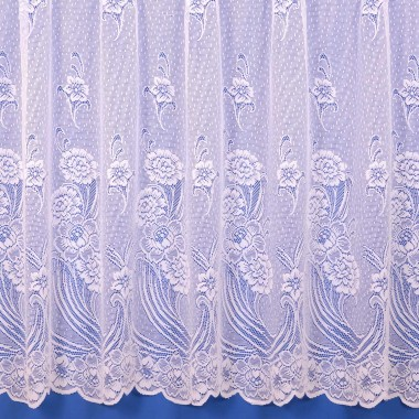 Catherine Winterweight Net Curtain in White - Sold by the Metre
