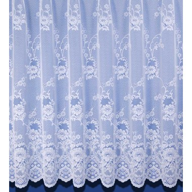 Clumber Heavyweight Jacquard Net Curtain In White - Sold By The Metre