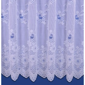 Hannah Net Curtain In White - Sold By The Metre