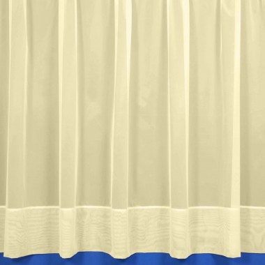 Jayne Hemmed Voile Net Curtain in Cream - Sold By The Metre