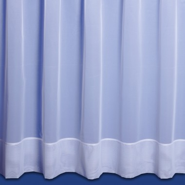 Jayne Hemmed Voile Net Curtain in White - Sold By The Metre