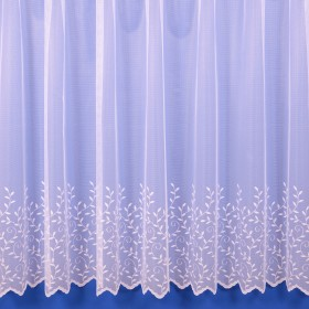 Jessica Lightweight Net Curtain in White - Sold By The Metre